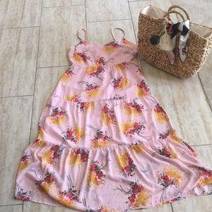 JCrew Mercantile Pink Floral Summer Dress